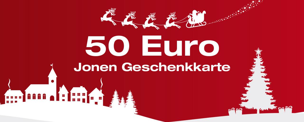 50 Euro Jonen Geschenkkarte