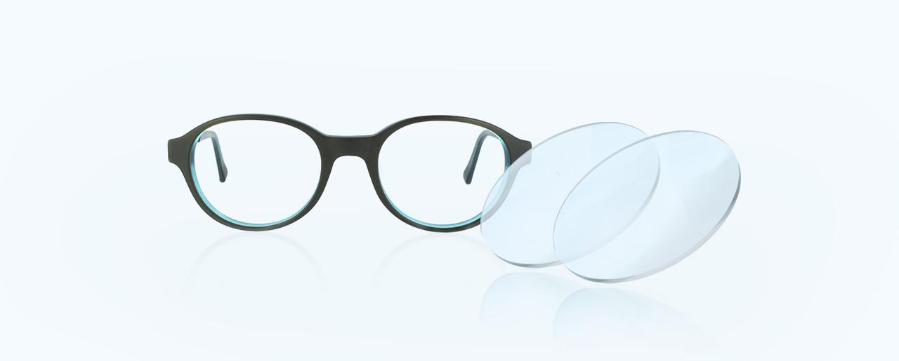 Fassung mit zwei Brillengläsern